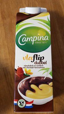 Vlaflip dubbel Chocolade en Vanillevla - Product - nl