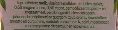 Vlaflip dubbel Chocolade en Vanillevla - Ingredients - nl