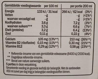 Drinkyoghurt limoen - Voedingswaarden - nl