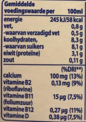 Drinkyoghurt Aardbei - Nutrition facts - nl