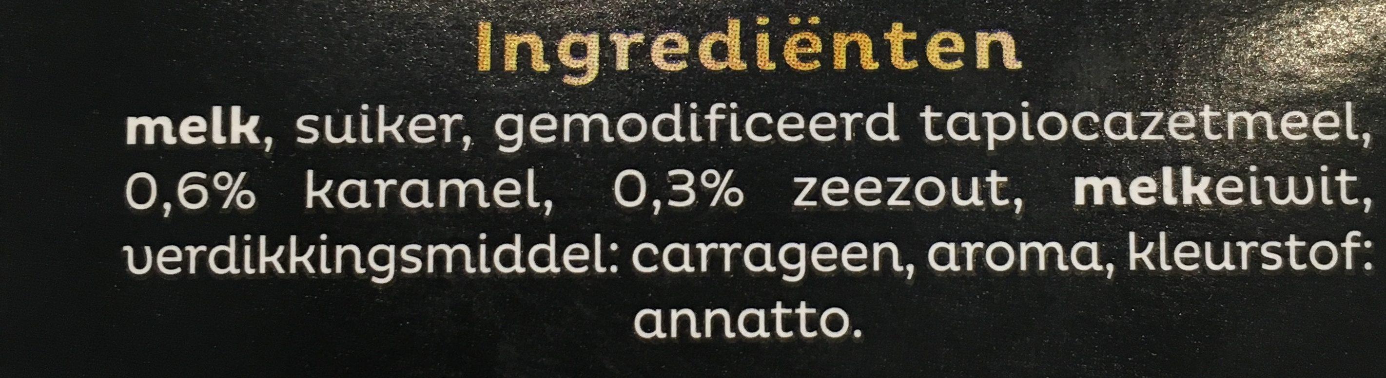 Vla Intense Karamel Zeezout - Ingrediënten - fr