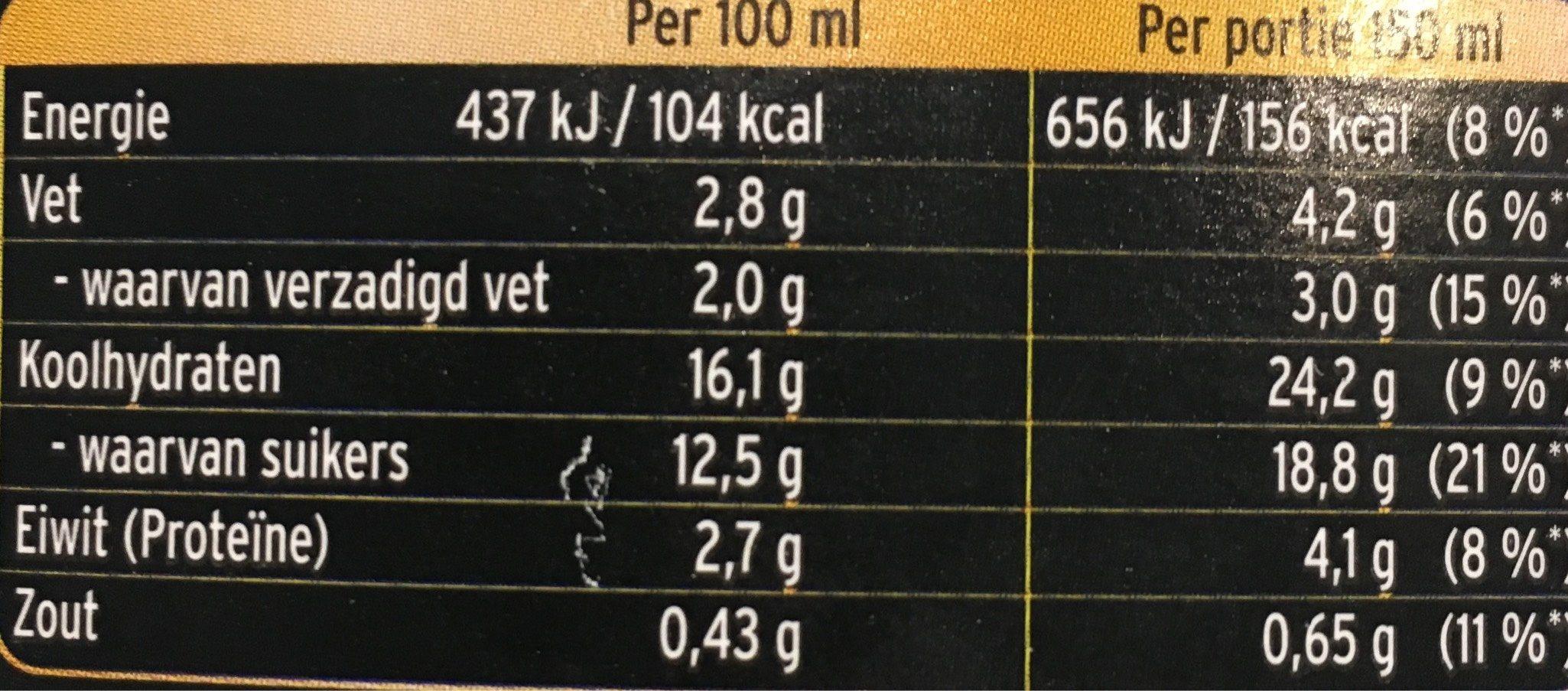 Vla Intense Karamel Zeezout - Voedingswaarden - fr