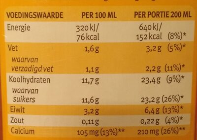 Chocomel halvol - Nutrition facts - nl