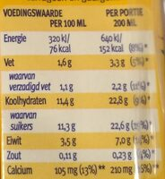 Chocomel halfvol - Nutrition facts - nl