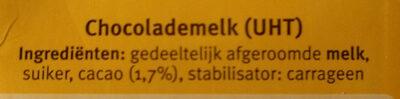 Chocomel - Ingredients - en