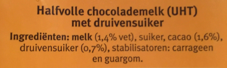 Chocomel Halfvol - Ingrediënten - nl