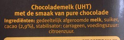 Chocomel Dark - Ingrediënten - de