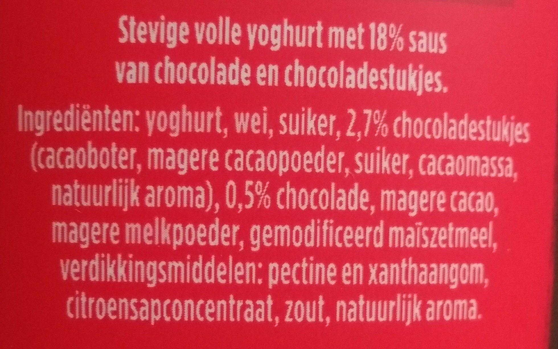 Oops! Choco Choco - Ingrediënten - nl