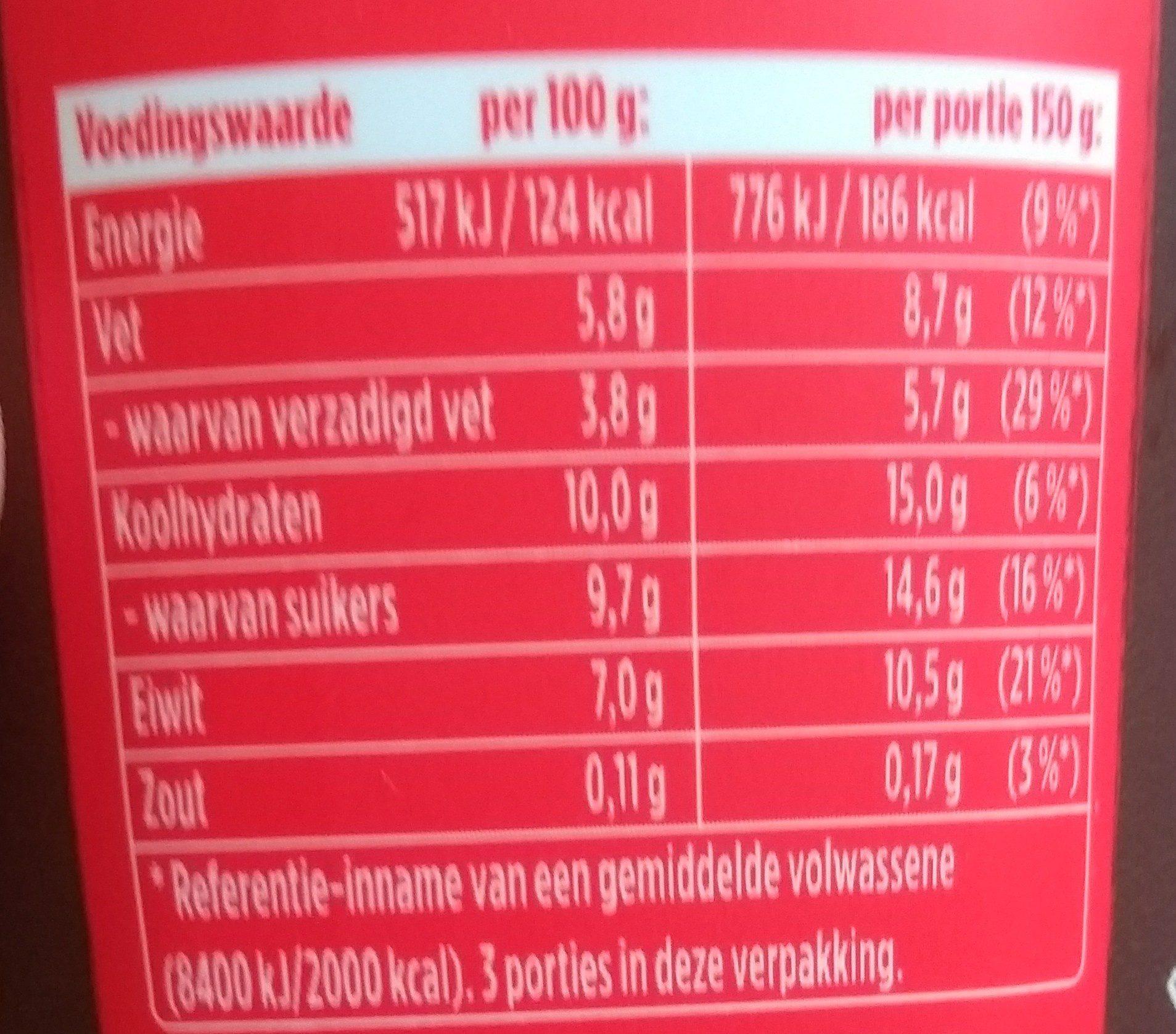 Oops! Choco Choco - Voedingswaarden - nl