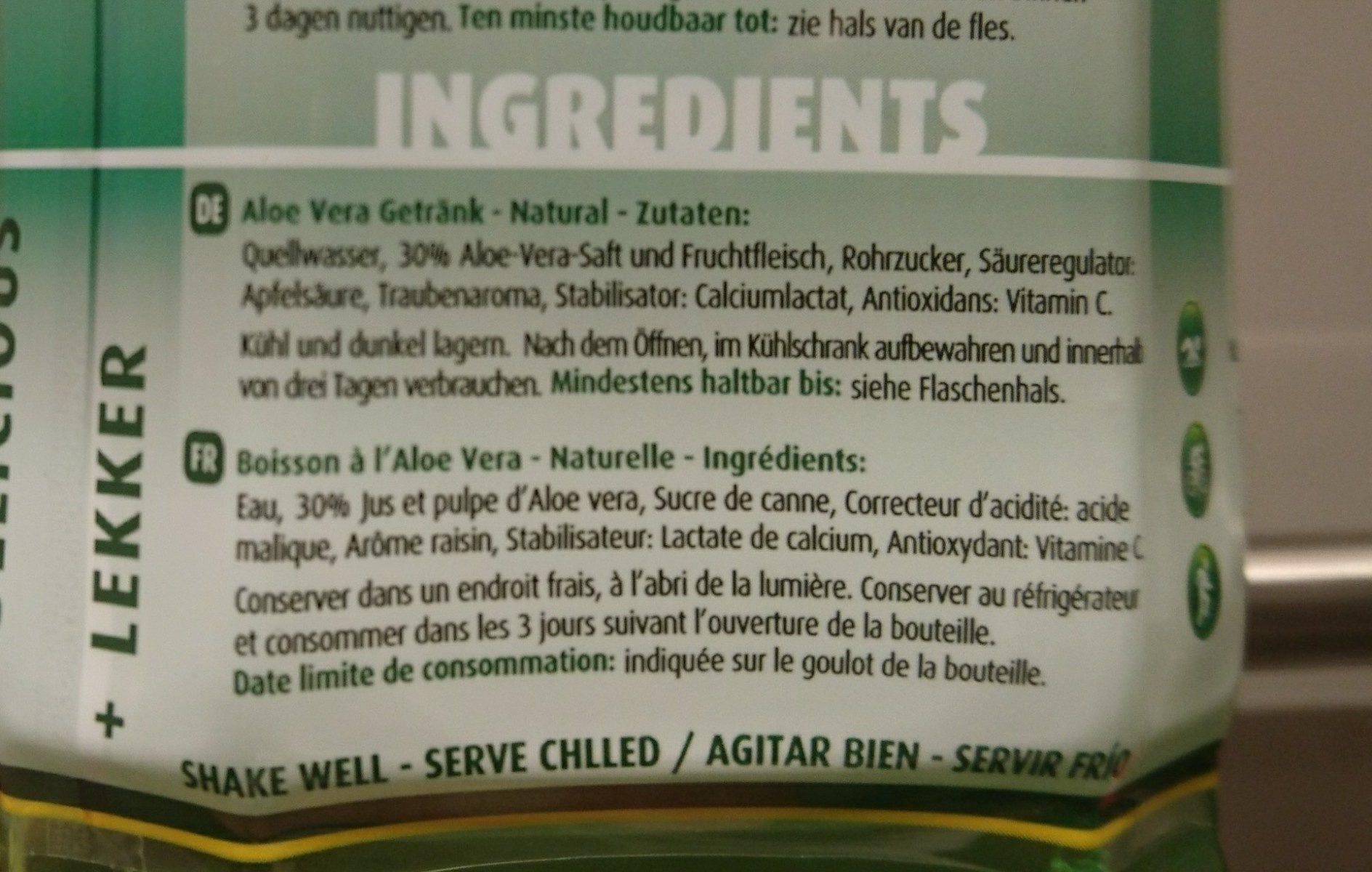 Aloe natural - Ingredients - en