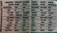 Aloe natural - Voedingswaarden - en
