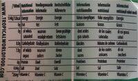 Aloe natural - Nutrition facts - en
