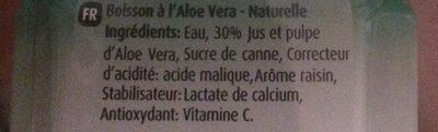 Aloe Vera Drink - Ingrédients