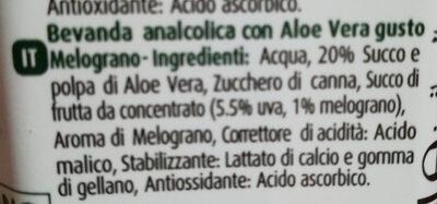 Aloe Vera Pomegranat 500Ml - Ingredients - it