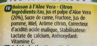 Aloe Lemon - Ingredientes