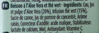ALOE & GREEN TEA - Ingredients - fr