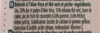Aloe & Green Tea Ice Tea Peach - Ingredienti - fr