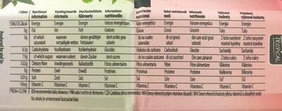 Aloe & Green Tea Ice Tea Peach - Valori nutrizionali - fr