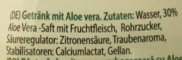 Aloe Vera Juice & Pulps Original - Ingredients - de