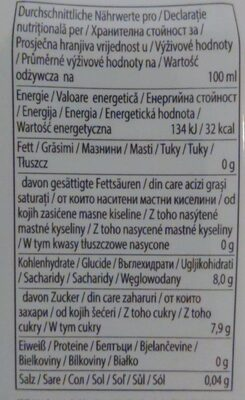 Aloe Vera Juice & Pulps Original - Nutrition facts - de