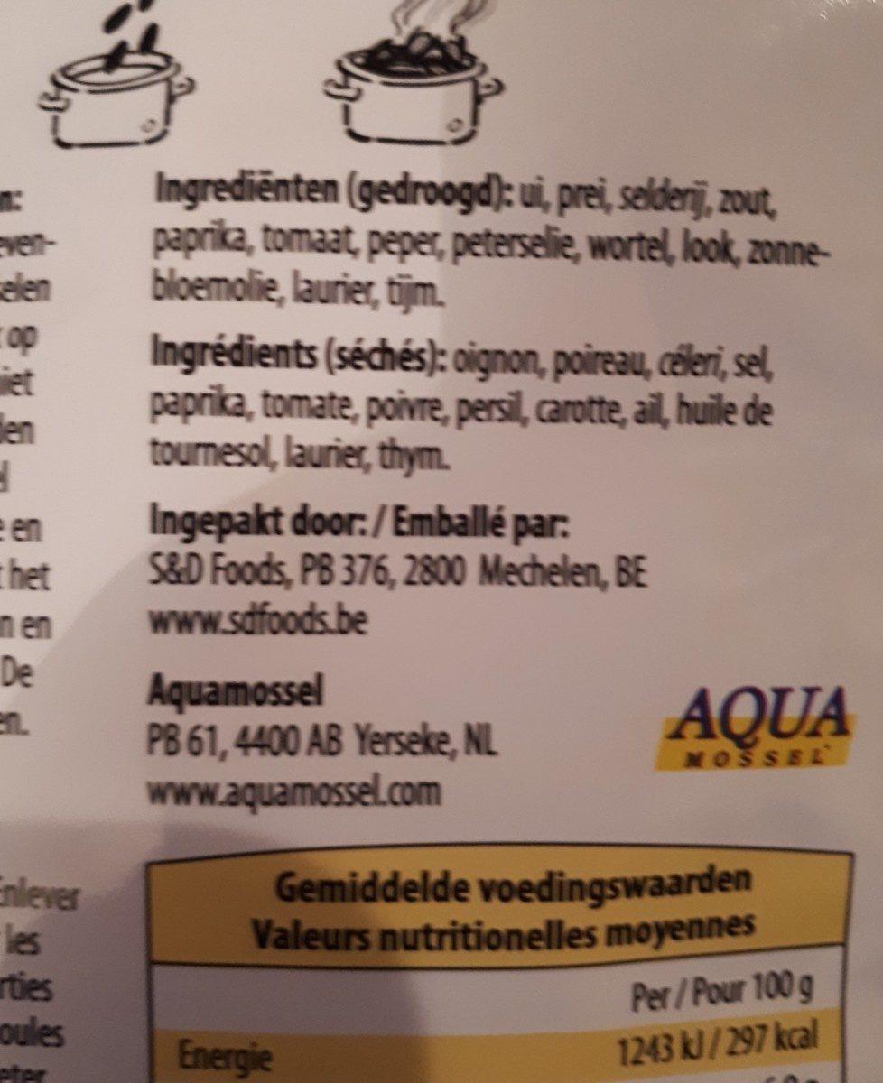 Herbes pour moules - Ingrédients - fr