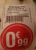 Champignons Blancs de Paris - Ingrediënten