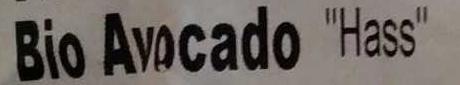 Bio Avocado Hass - Zutaten