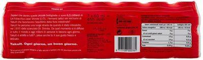 Yakult 7 x 65 ml - Informazioni nutrizionali