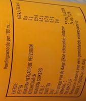 Vers sinaasappelsap mc donalds - Voedigswaarden