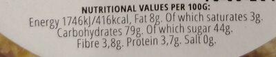 Coconut Caramel Popcorn - Voedingswaarden