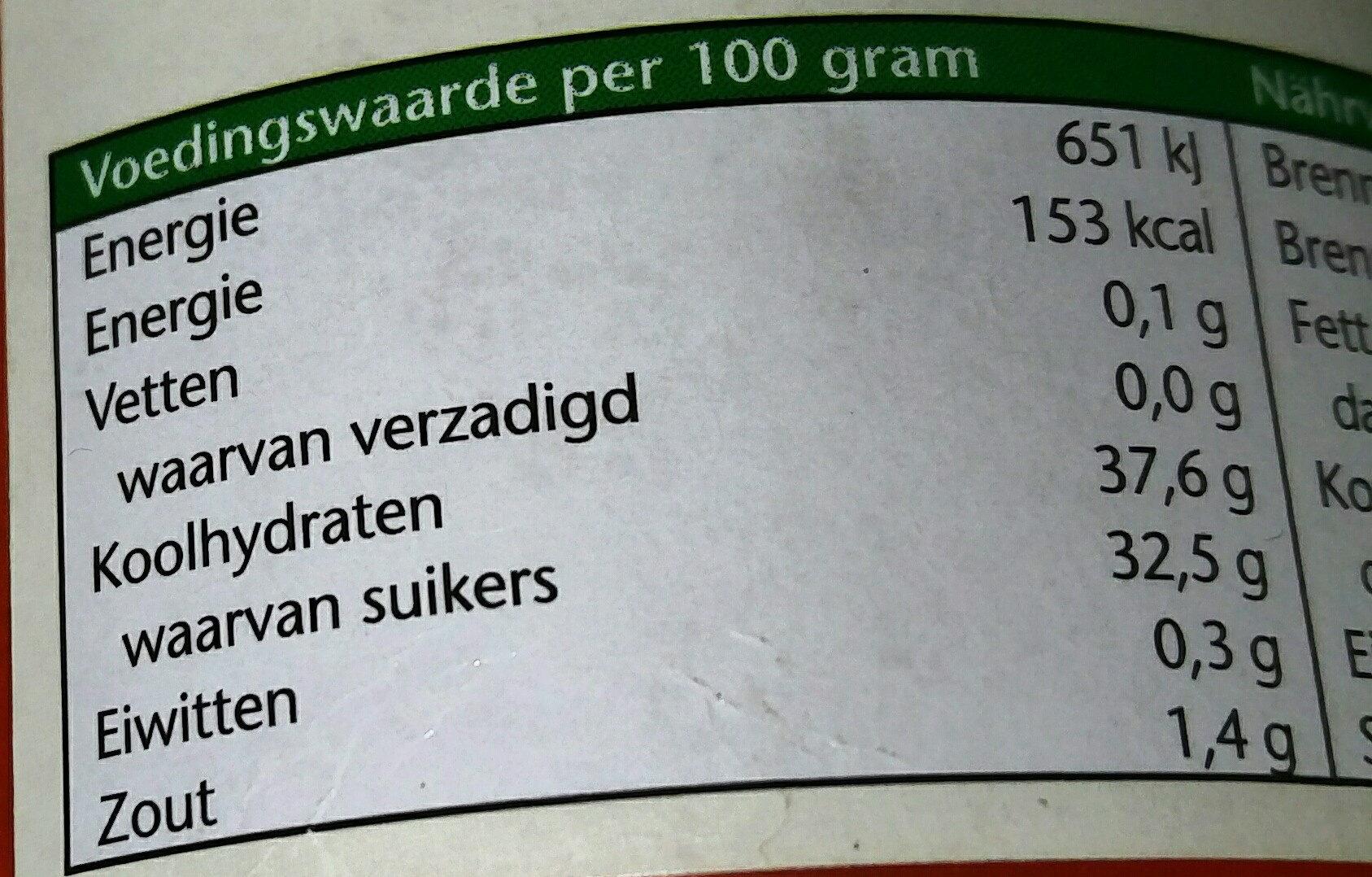 Oliehoorn Currysaus Traditionele Sauzen - Voedigswaarden