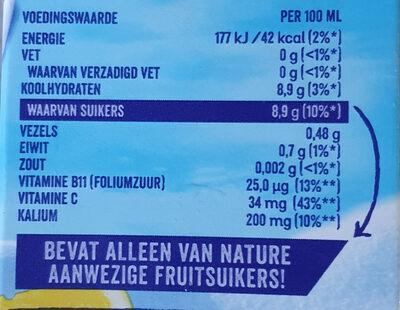 Premium orange - Nutrition facts - nl