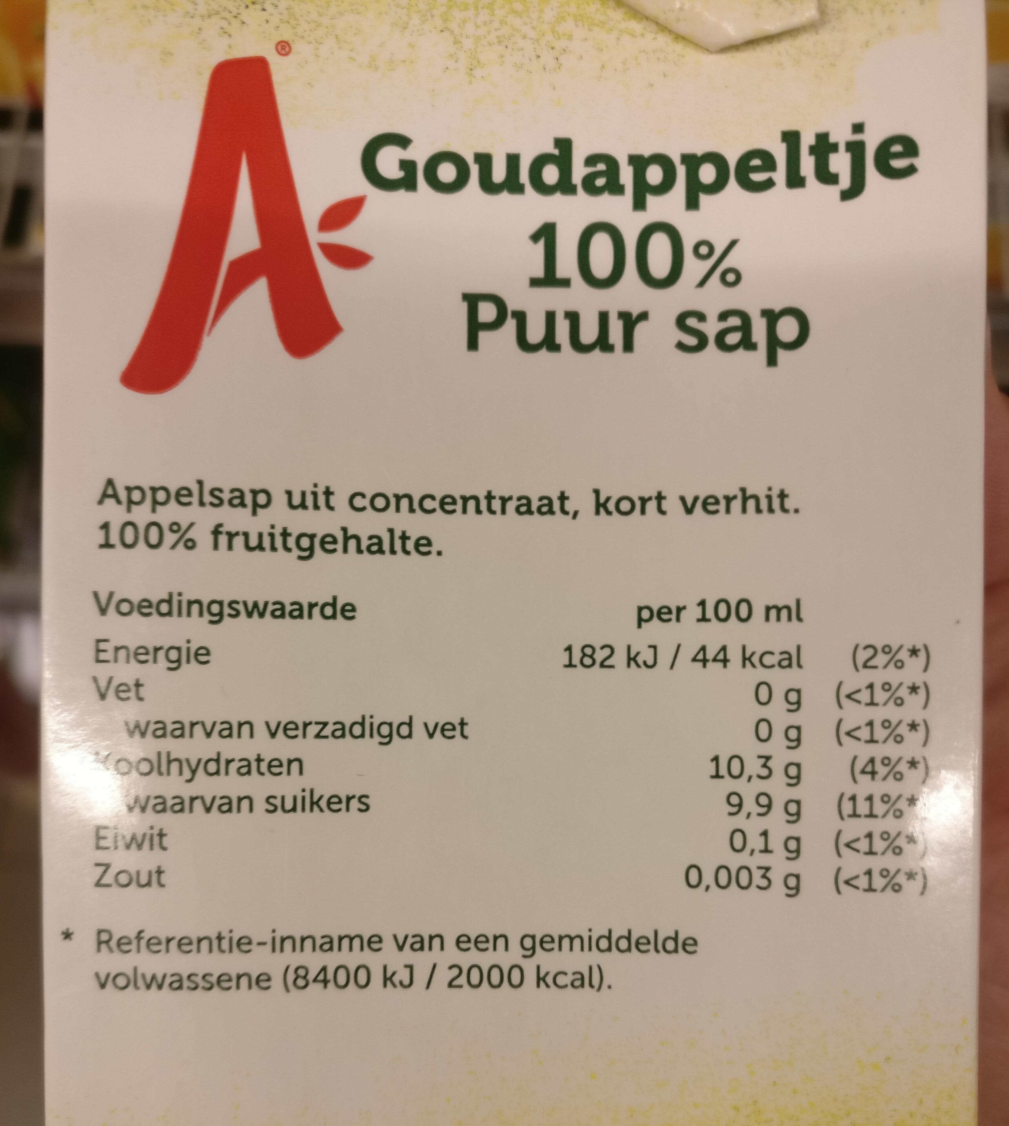 Appelsientje jus de pomme - Ingredients - nl