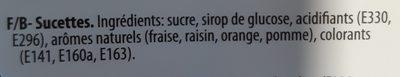 Lollipops - Ingrediënten