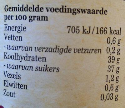 zure kers fruitbeleg - Nutrition facts - nl