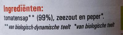 tomatensap - Ingredients - nl