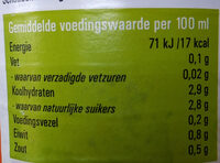 tomatensap - Nutrition facts - nl