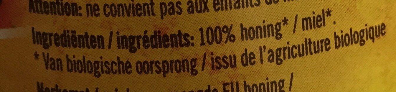 Traay Linde Honing Eko - Ingrediënten - nl