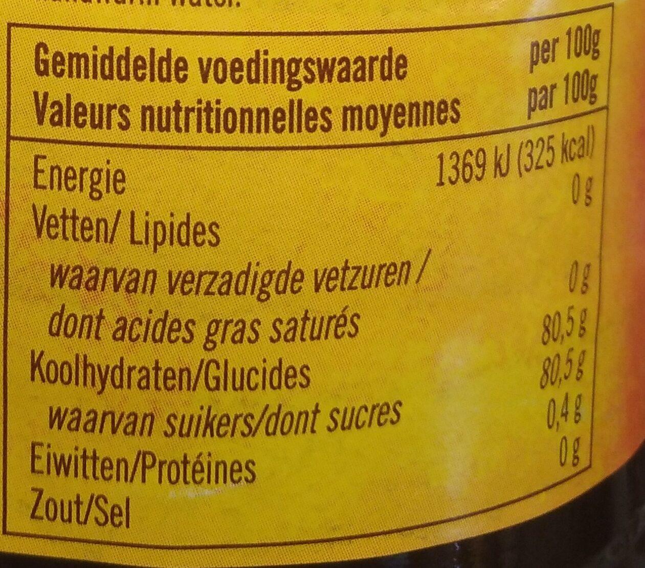 Biologische woudhoning - Voedingswaarden - nl