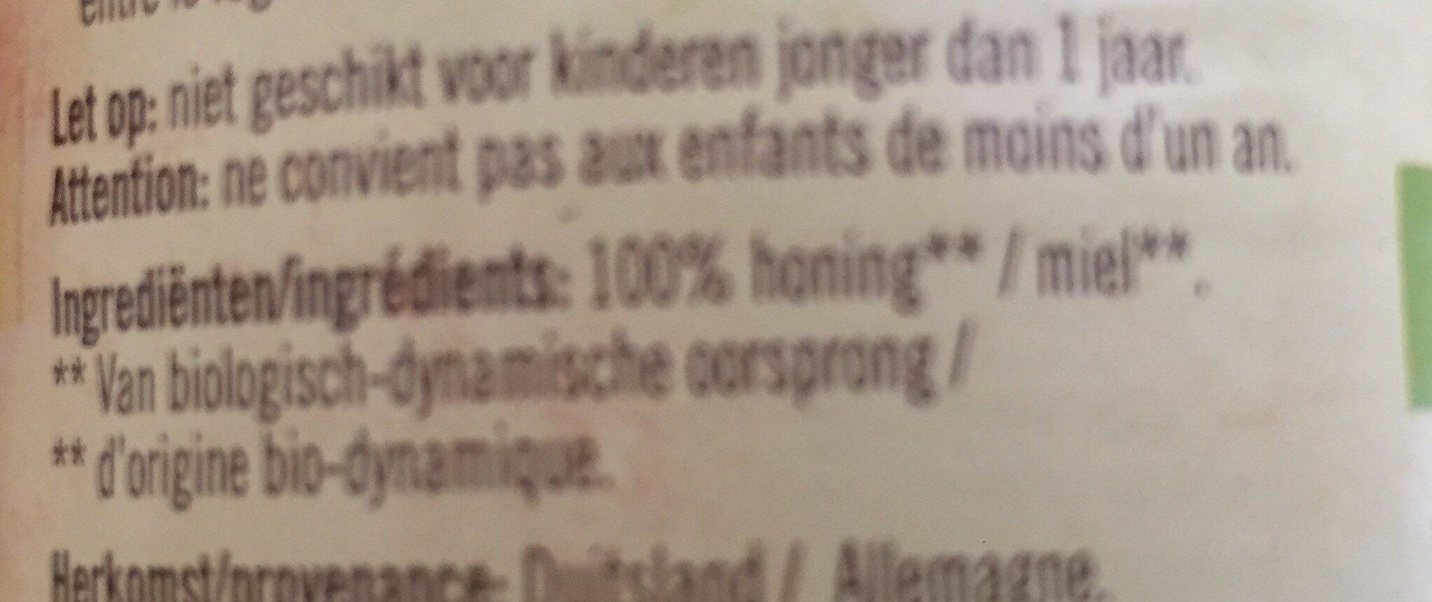 Miel cremeux aux fleurs - Ingrediënten - nl