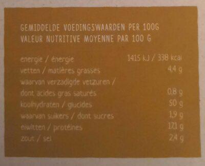 Crêpes - mélange aux pois chiches - Nutrition facts - nl