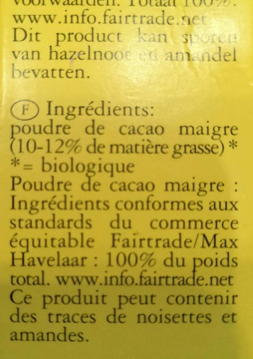Cacao - Ingrediënten - en
