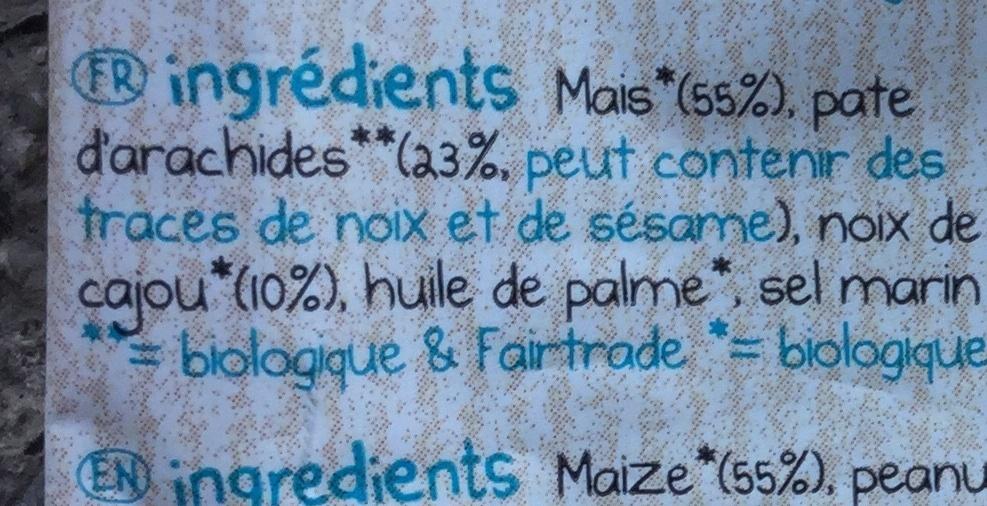 Mais flips - peanut & roasted cashew - Ingrédients - fr