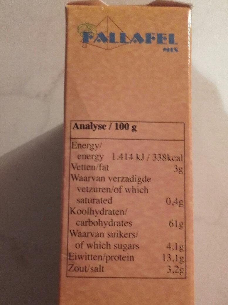 Fallafel mix - Informations nutritionnelles - fr