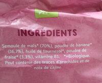 Etoiles aux fraises - Ingredients - fr