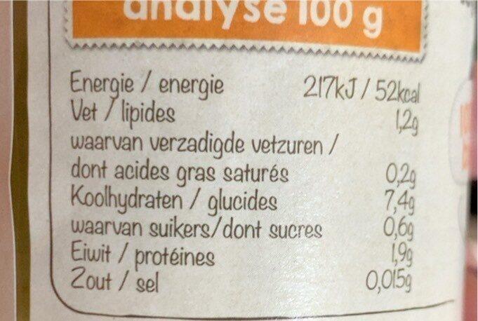 Legumes vertes au millet Biobim - Voedingswaarden - fr