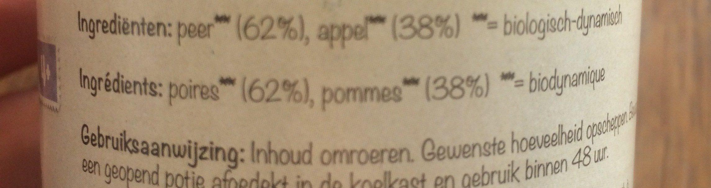 poires pommes - Ingredients - fr