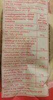 Pastilles de chocolat - Valori nutrizionali - fr