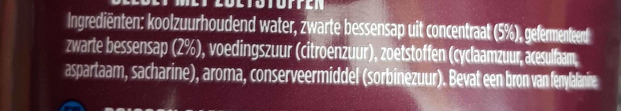 Hero Cassis Zero - Ingrediënten - nl