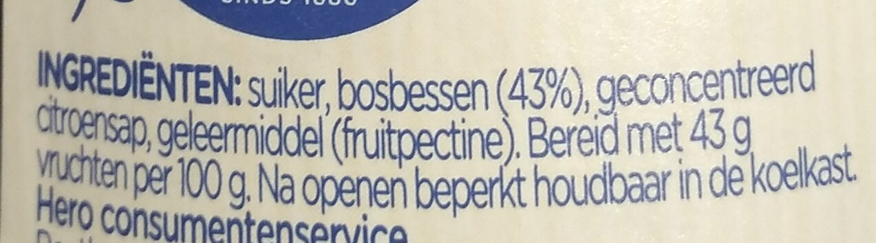 Confituur - Ingredients - nl